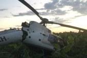 Un helicóptero militar cae a tierra en Azua; sus ocupantes salen ilesos