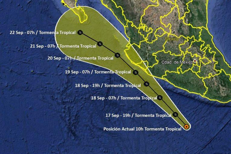 La tormenta tropical Lorena ya es huracán y sigue avanzando en la costa de México